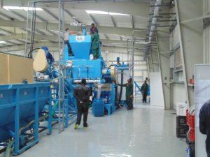 Горачая мойка на линии переработки ПЭТ
